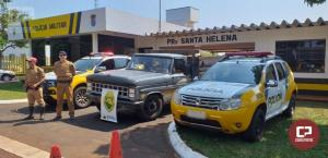 PRE de Santa Helena apreende caminhão carregado com contrabando