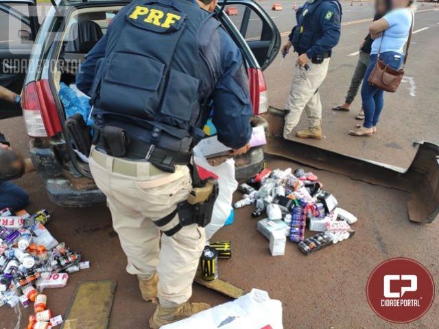 PRF apreende em São Miguel do Iguaçu medicamentos contrabandeados em fundo falso de veículo