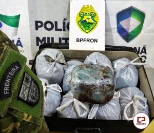 """BPFRON apreende """"SKUNK"""" em Cascavel durante Operação Hórus"""