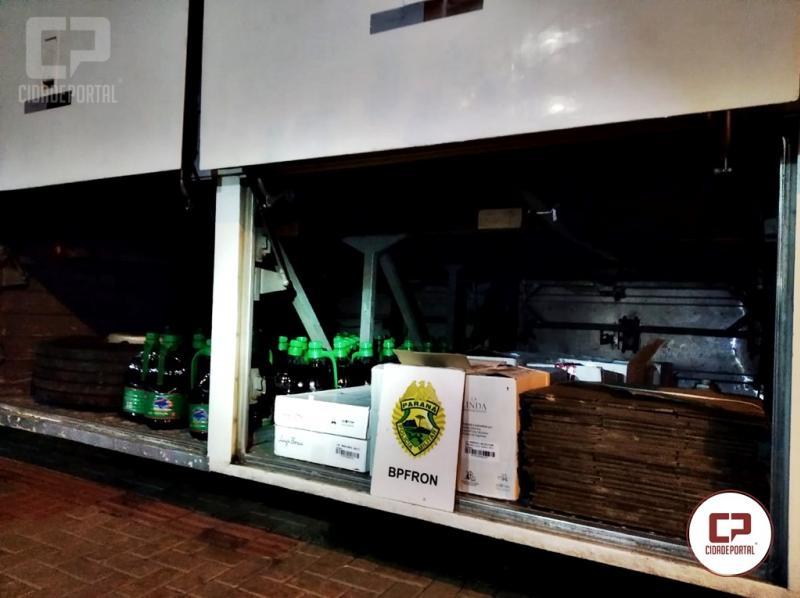 BPFRON apreende Ônibus com mercadorias contrabandeadas em Cascavel durante Operação Hórus