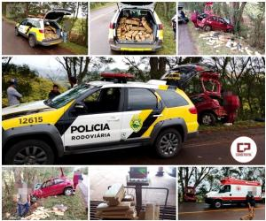 Traficante foge da Polícia Rodoviária Estadual, joga passageira para fora e depois morre em acidente
