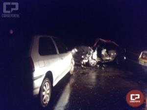 Cinco pessoas ficam feridas em acidente na PR-495 em Pato Bragado