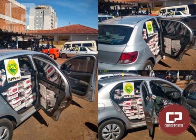 Policiais Militares apreendem veículo carregado com cigarros contrabandeados em Marechal Cândido Rondon