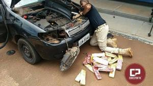Polícia Rodoviária Federal apreende carro recheado com maconha no oeste Paranaense