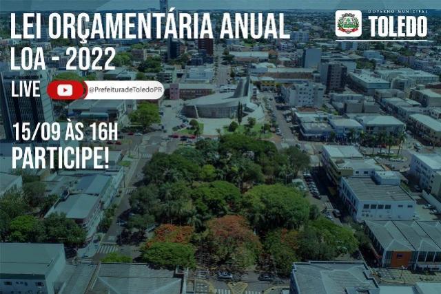 Audiência pública da LOA acontece em Toledo nesta quarta-feira, 15