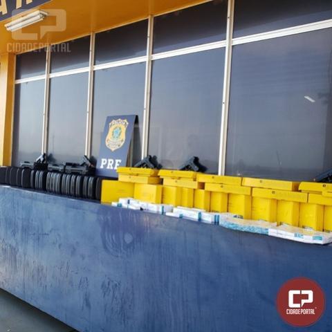 PRF apreende grande quantidade de armas de Airsoft e medicamentos em Santa Terezinha