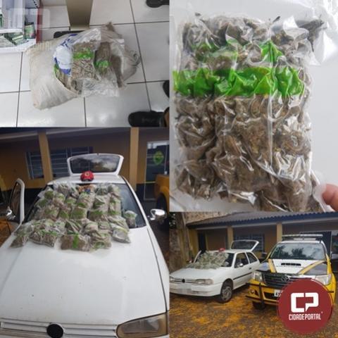 Posto Policial Rodoviário de Cascavel apreende 14 kg de entorpecentes