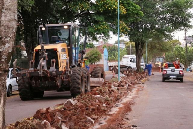 Em obras: Avenida Borges de Medeiros em Toledo terá cara nova
