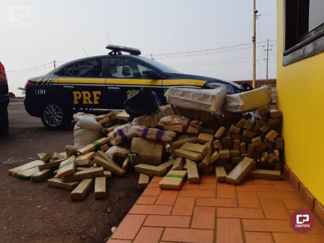 PRF apreende quase 300 quilos de maconha em Marechal Cândido Rondon