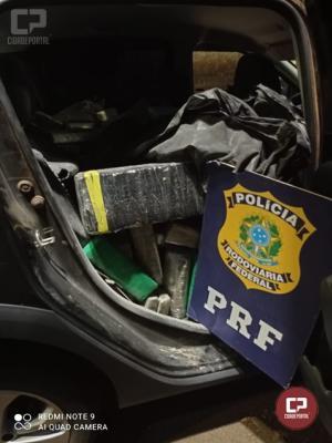 PRF apreende 612 Kg de maconha e recupera veículo roubado em Céu Azul