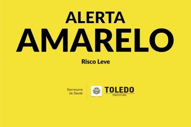 Toledo segue em Alerta Amarelo para Covid-19, cuidados precisam continuar