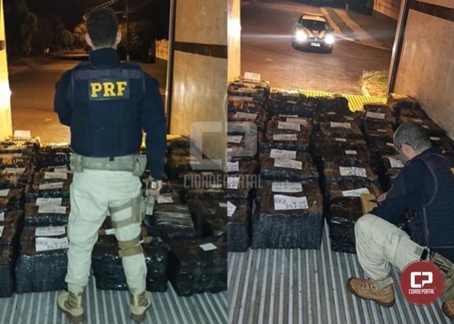PRF apreende mais de uma tonelada de maconha em Cascavel