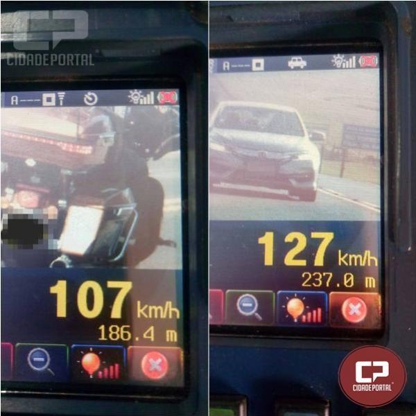 PRE autua 19 motoristas por excesso de velocidade em Cascavel