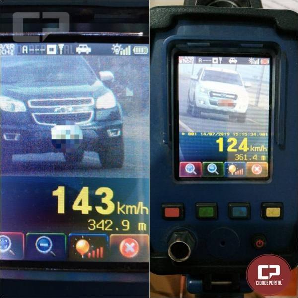 PRE autua 51 motoristas por excesso de velocidade em Cascavel