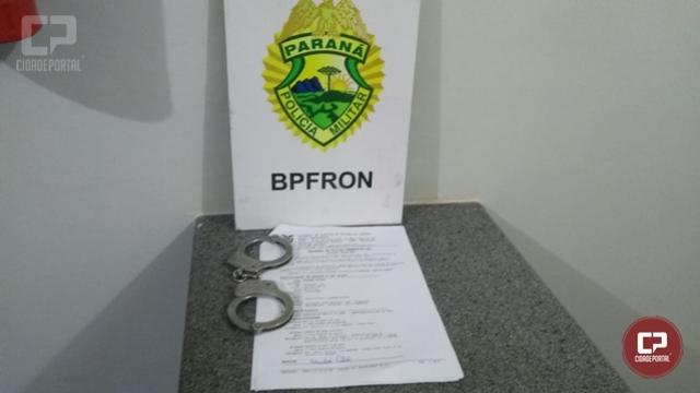 BPFRON apreende um homem com mandado em aberto na cidade de Mercedes