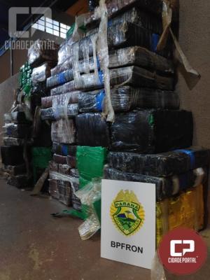 Policiais Militares do BPFRON apreendem mais de meia tonelada de maconha em Foz do Iguaçu