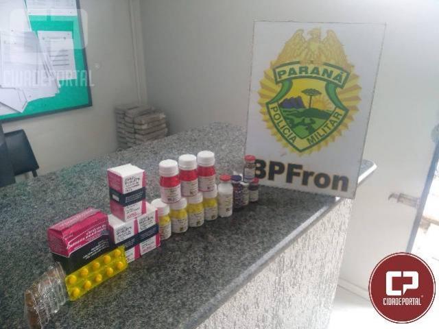 BPFRON apreende anabolizantes em São Miguel do Iguaçu/PR
