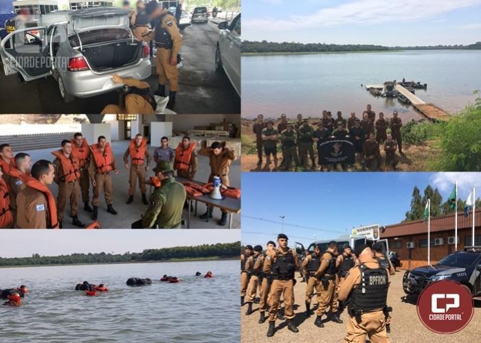 Cadetes da Academia Policial Militar do Guatupê vivenciam o trabalho do BPFron