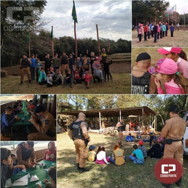 Crianças do Coral do BPFRON participaram de atividades de acampamento em Marechal Cândido Rondon