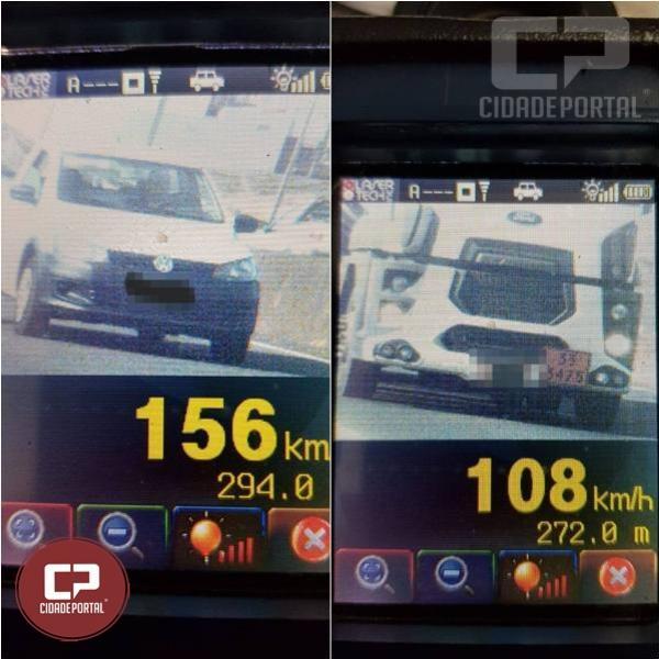 PRE autua 27 motoristas por excesso de velocidade em Cascavel