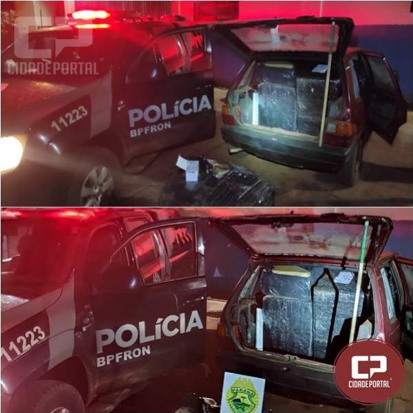 BPFRON apreende veículo carregado com contrabando em Foz do Iguaçu