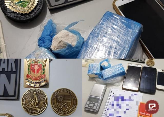 Assaltante é preso e mais de 400 gramas de cocaína foi apreendida em Marechal Cândido Rondon
