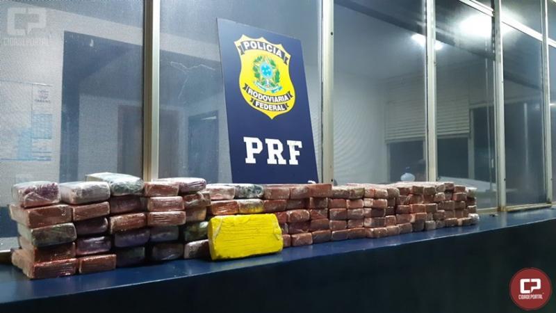 PRF recupera veículo com drogas escondidas em fundo falso no município de Santa Terezinha