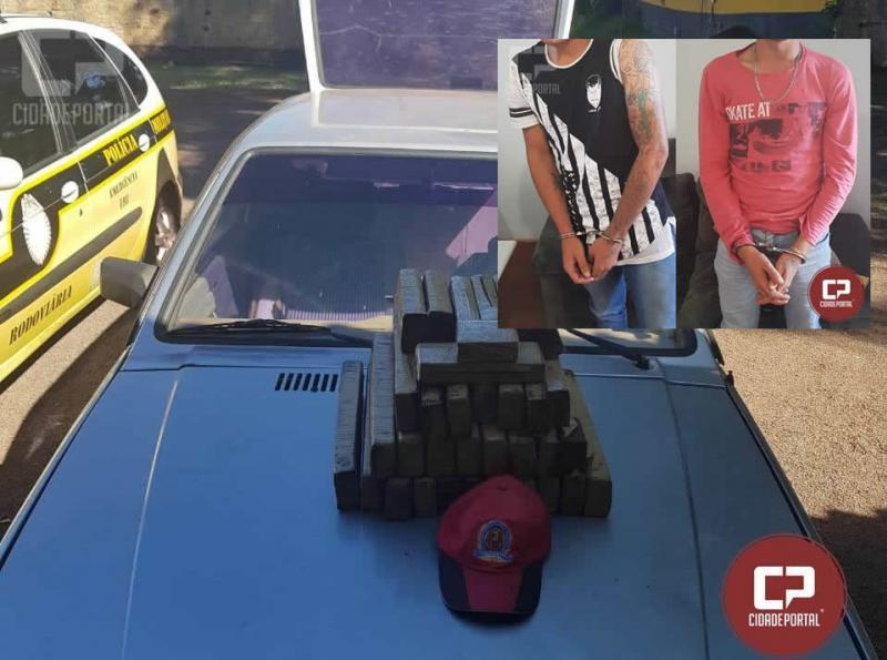 Duas pessoas foram presas pela Polícia Rodoviária Estadual de Cascavel por tráfico de drogas
