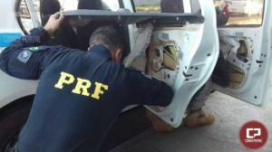 Polícia Rodoviária Federal prende taxista gaúcho com maconha em fundo falso no Paraná