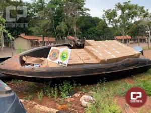 Policiais Militares apreendem F4000 e embarcação carregados com cigarros em Pato Branco