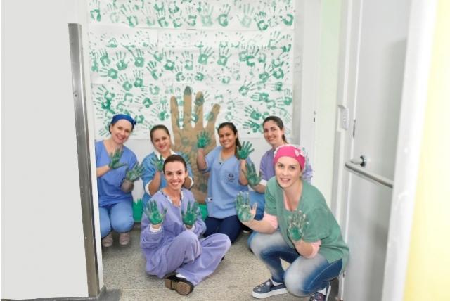 Profissionais  do Mini Hospital participam de atividade sobre Higiene das Mãos em Toledo