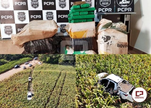 Ação integrada entre forças de segurança resulta na apreensão de 168 kg de maconha