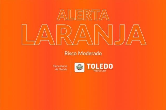Covid-19: Toledo retoma a Bandeira Laranja