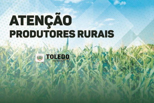 Prazo para produtores rurais de Toledo entregarem notas fiscais encerra-se no dia 30