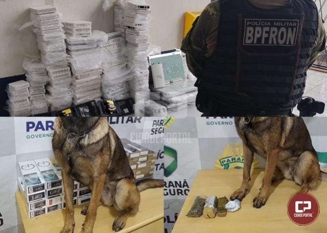 BPFron aprende drogas e contrabando durante Operação Hórus em Toledo e Cascavel