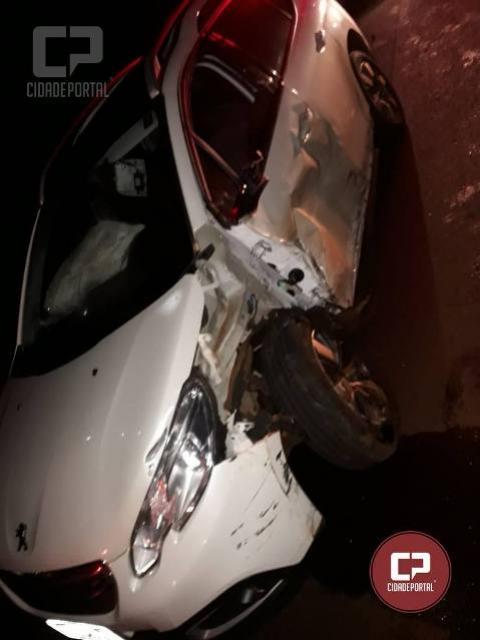 Acidente envolvendo dois veículos deixa um homem ferido na PRC-467 em Marechal Cândido Rondon