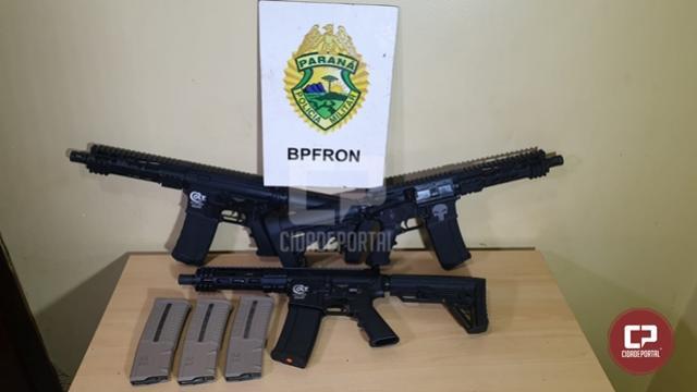 BPFron apreende fuzis em ônibus durante Operação Hórus em Cascavel