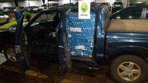 BPFron apreende carro com cigarros contrabandeados na cidade de Nova Santa Rosa
