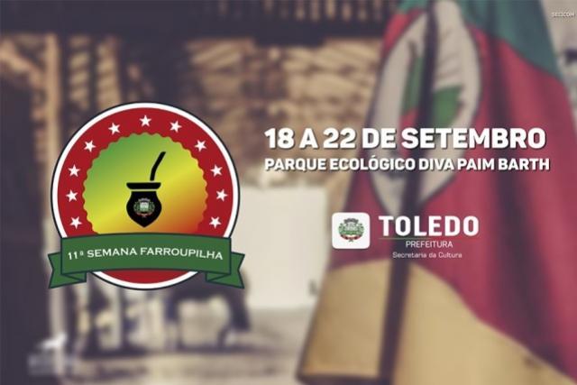 Semana Farroupilha em Toledo tem mudanças na programação