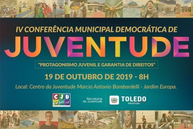Juventude escolherá seus representantes neste sábado, 19, em Toledo