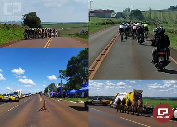 Equipe Posto Móvel 3ª CIA prestou apoio ao evento ciclístico entre Cascavel e Tupãssi