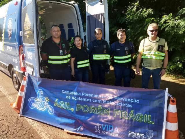 Campanha estadual sobre prevenção de acidentes no trânsito conscientiza motociclistas