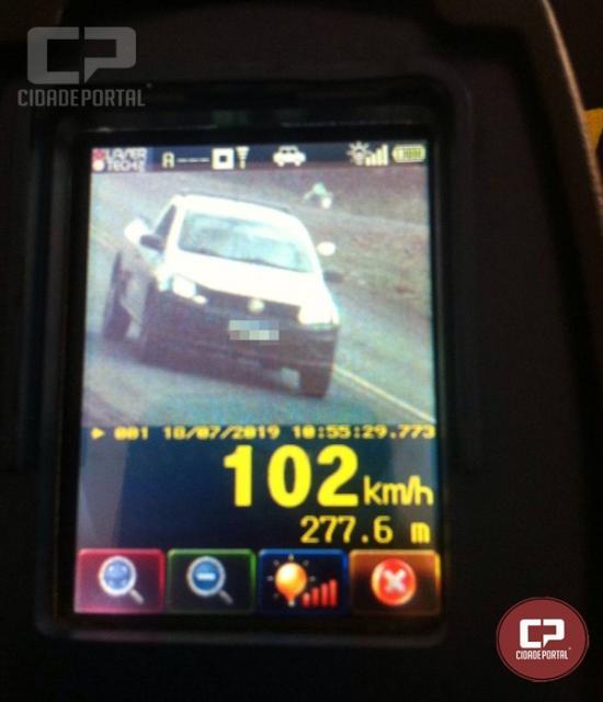 PRE autua 26 motoristas em operação radar no município de Santa Helena
