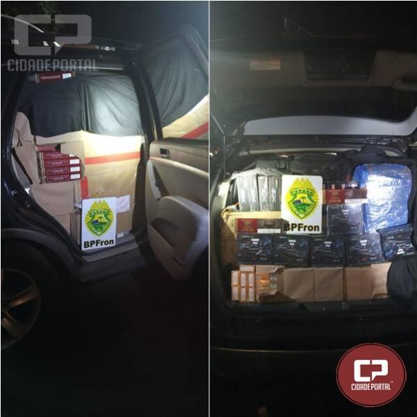 BPFron apreende veículo carregado com contrabando de cigarros em Maripá