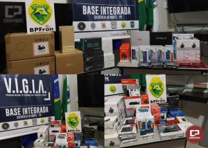 BPFron apreende diversos eletrônicos em São Pedro do Paraná