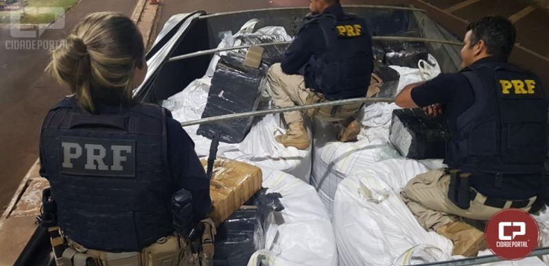 PRF prende dois homens e apreende quase meia tonelada de maconha em Santa Terezinha