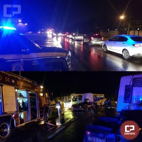Oito pessoas ficam feridas em acidente na BR-469 em Foz do Iguaçu