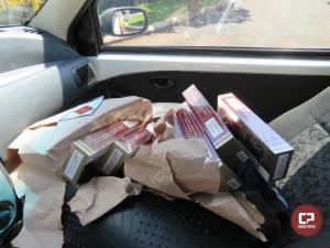 PRE de Santa Helena apreende 3 veículos carregados com contrabando em Diamante do Oeste