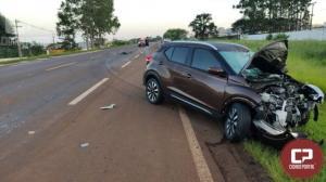 Uma pessoa morre após colidir contra carro em Cascavel