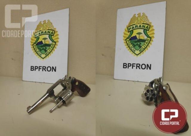 BPFRON apreende arma de fogo após abordagem em Foz do Iguaçu